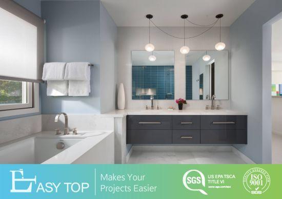 Modern Style High Gloss Luxury Wall Mounted PVC Bathroom Vanity