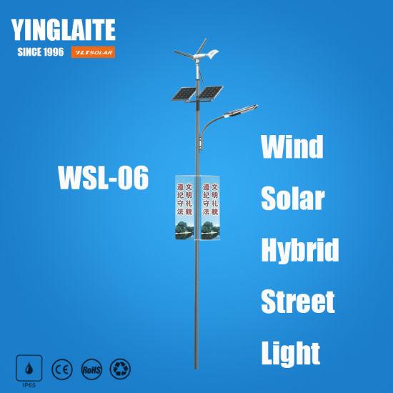 New Degisn Cheap Price 8m Pole 60W Wind Solar Hybrid Outdoor Light