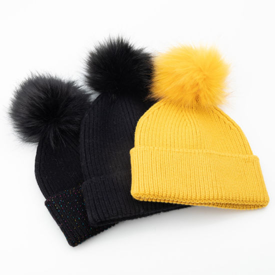 Women′s Fashion Spandex Rib Pattern Knitted Hat pictures & photos