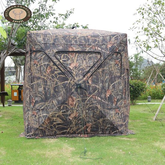 China Custom Wholesale Pop Up Hunting Blind Tents Waterproof Pvc Coating Camouflage Blind Hunting Hide Tent Outdoor China Military Equipment And Stealth Price