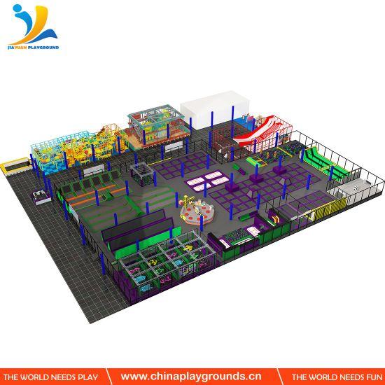 Super Trampoline Park with Ninja Warrior for Family Entertainment Center