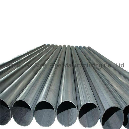 Tianjin Ms ERW Welded Black Steel Pipe/Tube Black Carbon ERW Steel Pipe