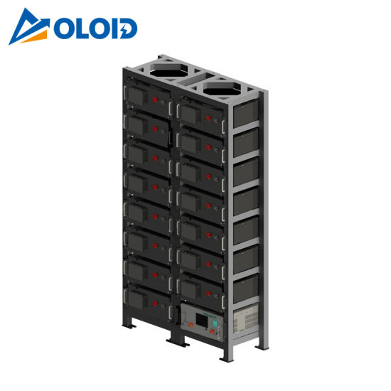 76.8kwh Solar Rechargeable Li-ion LiFePO4 Lithium Storage Battery with BMS