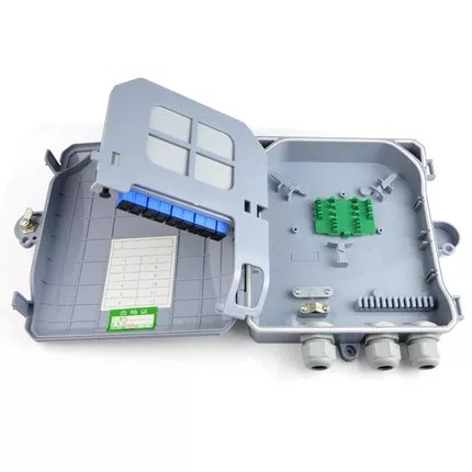Waterproof 1X8 PLC Splitter Box Suitable for Wall-Mount and Pole Mounted ABS Fiber Optical Distribution Box