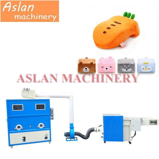 Lowest Price Pillow Stuffing Fiber Machine/Double Pipe Fiber PP Cotton Filling Stuffing Machine/ New Design Toy Filling Machine
