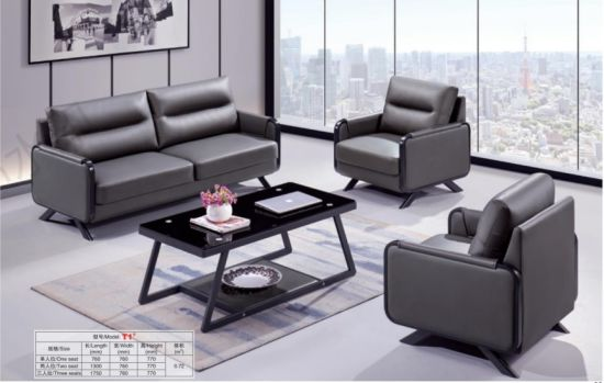 Popular Modern Leisure Leather Sofa for Office and Lounge pictures & photos