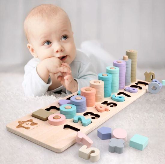 Intelligence Development Wooden Wood Educational Toy For Children Kids Baby