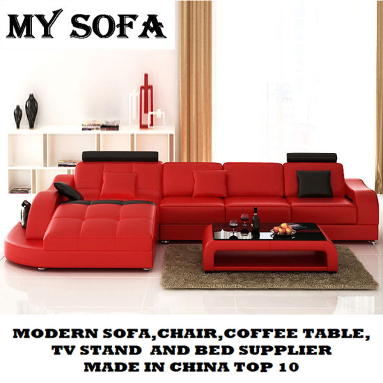 Modern Design Leather Sectional Sofa pictures & photos