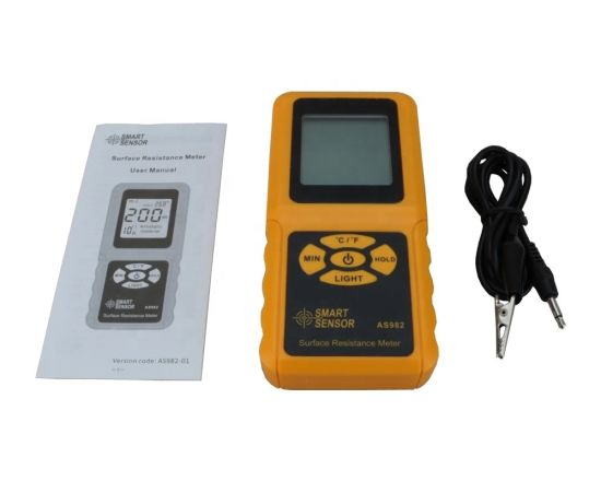 Digital LCD Surface Resistance Meter Temperature Tester pictures & photos