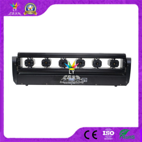 6 Eyes Stage Moivng Head Light RGB Laser Bar Scanner