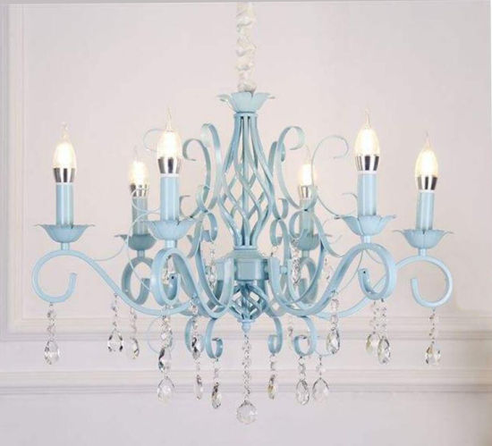 Image result for white chandelier with aqua crystals