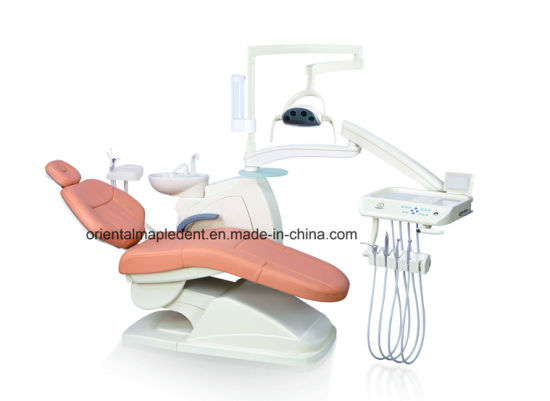 CE Approved Dental Chair Unit with Operating LED Lamp