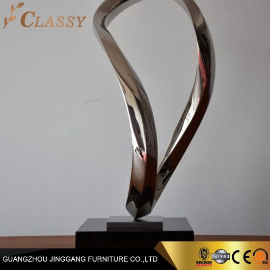 Modern Indoor Silver Polished Stainless Steel Statue Sculpture