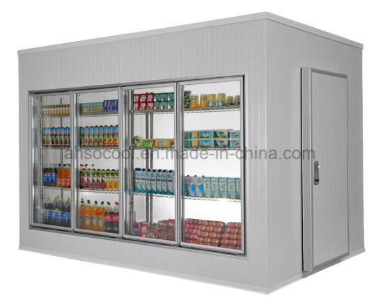 China Walk In Cooler Walk In Freezer Cold Room With Glass Door