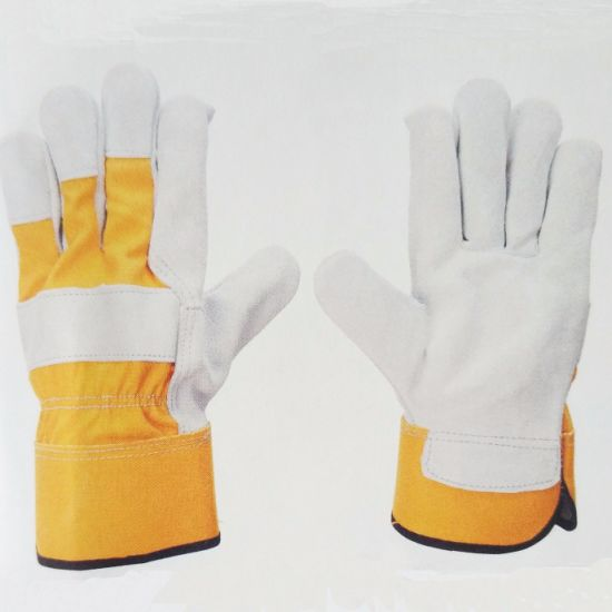 Ality Grade Cowhide Leather Gloves Fks05 pictures & photos
