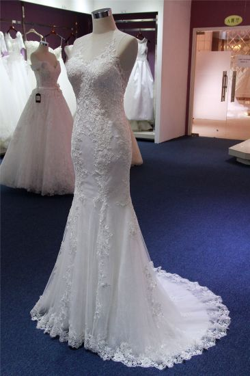 Hot Sale Lace Mermaid Evening Bridal Wedding Dress pictures & photos
