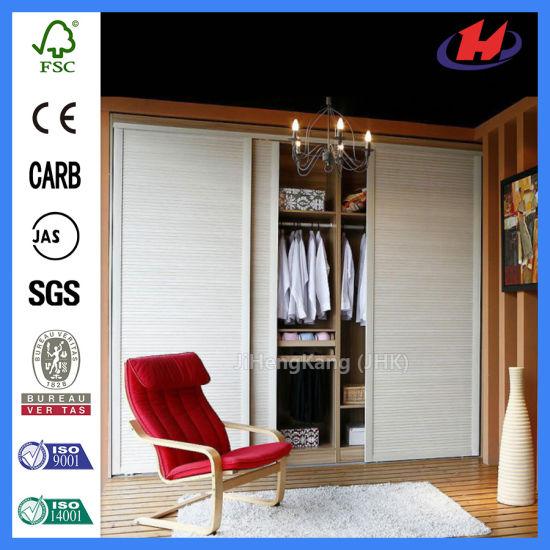 China Louver Outdoor Wooden Closet Bi-Folding Door (JHK-ZD1) - China ...