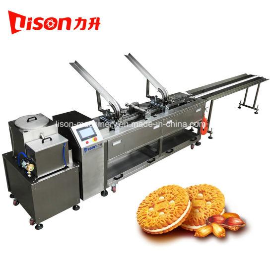 Single Lane One Color Fuit Jam Biscuit Sandwiching Machine with Conveyor