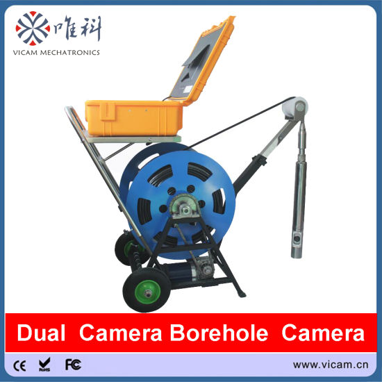 360 Degree Rotation CCTV Color Video Drilling Camera 500 Meters Cable with Electrical Winch