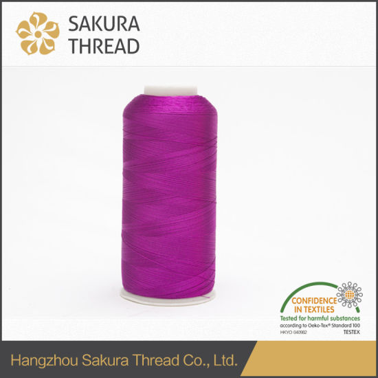 China 120d2 4000yard Rayonviscose Thread For Apparel Embroidery