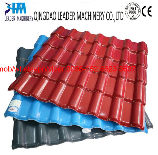 with UV Coating PVC Plastic Glazing/Glazed Roof Tiles Production Line pictures & photos