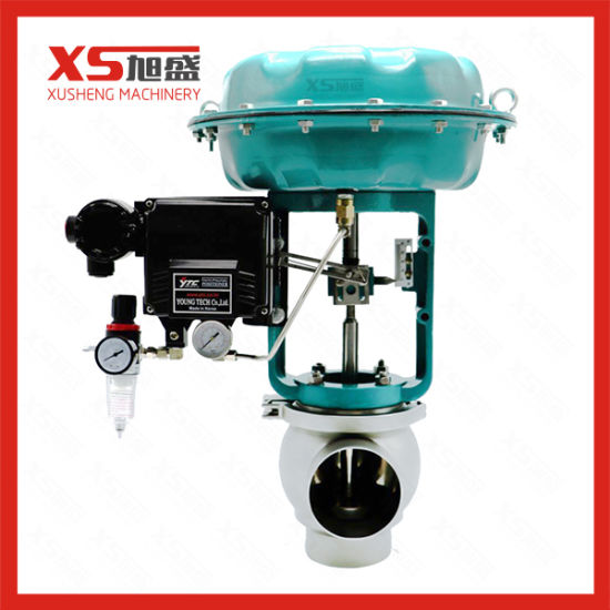 Sanitary Pneumatic Diaphragm Control Valve with Positioner