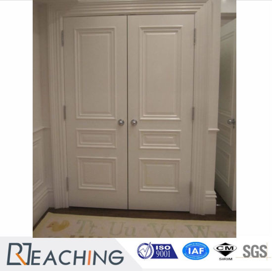 Double Two Wood Door White Painting Front Gate