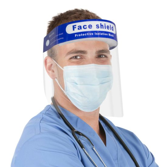 Reusable Safety Face Shield ANSI Adjustable Transparent Full Face Protective Visor with Eye Head Protection Face+Shield