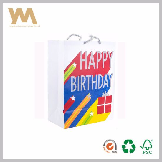 Cheap Custom Personalised Fancy Stars Birthday Gift Bag Pictures Photos