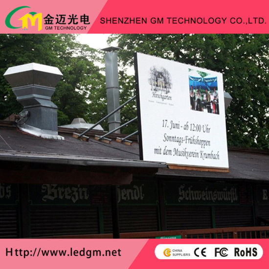 Shenzhen GM P6mm Advertising Ventilation Full Color Outdoor LED Display Screen