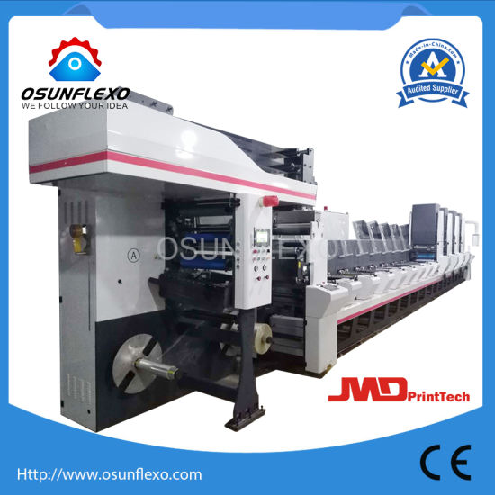 Combined Flexo and Gravure Printing Press Machine for Cold Seal