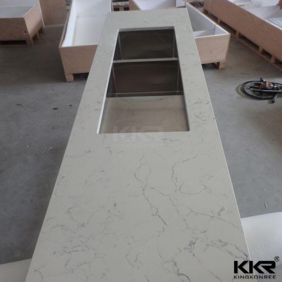 Black Acrylic Resin Quartz Sparkle Stone Countertop