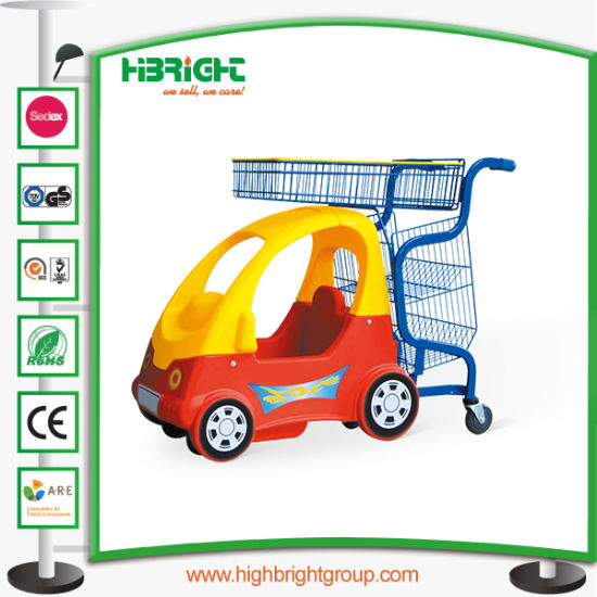 Kiddie Shopping Trolley with Baby Stroller for Supermarket pictures & photos