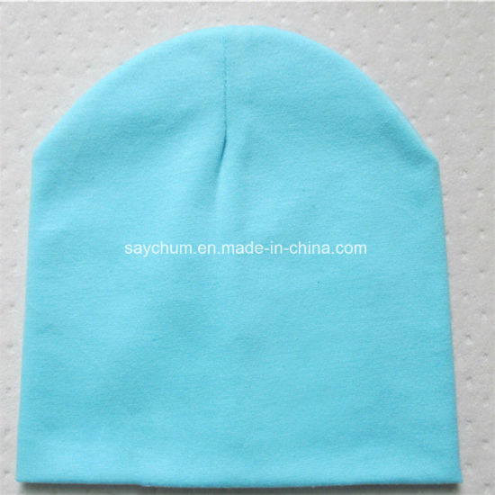 Brand Baby Hat Solid Color Cotton Knitted Baby Boy Caps