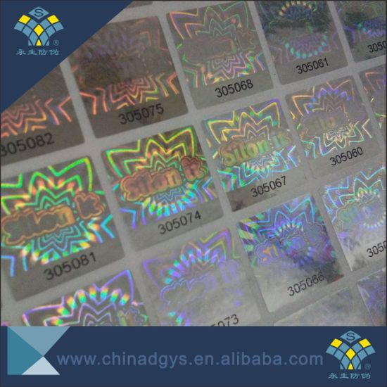 Scratch off Qr Code Series Number Hologram Sticker