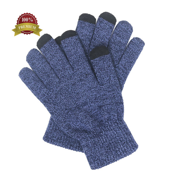 Men Winter Outdoor Military Cycling Cotton Knit Gloves pictures & photos
