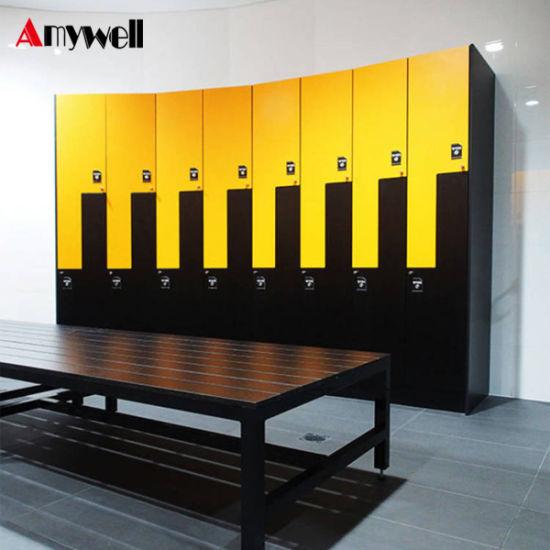Compact Laminate Swimming Pool Metal Closet Lockers Lock/12 Compartments  Air Coin Lockers