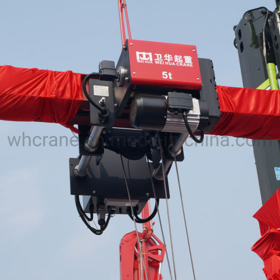 Euro Style Motor Lifting 5 Tons Electric Wire Rope Hoist 6m