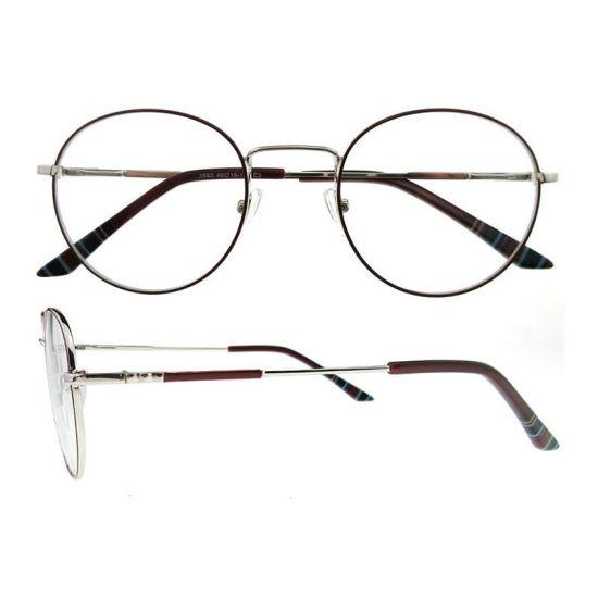 bc2de8bf980 2019 New Arrival Italian Design Female Round Metal Optical Eyeglasses Frames  for Women