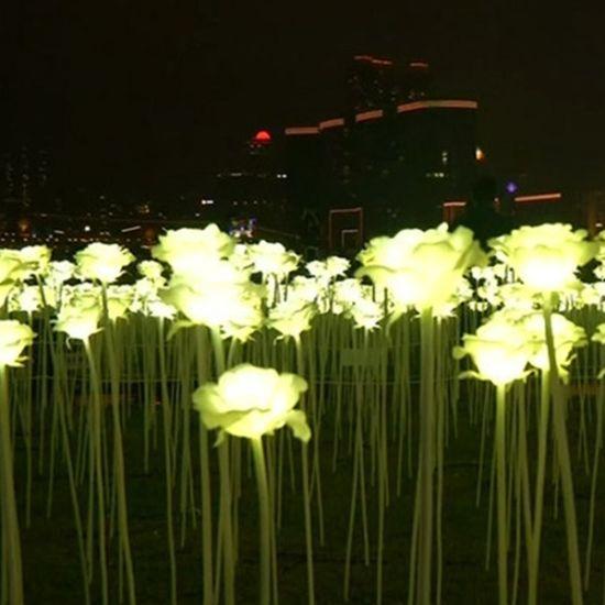 24V Rose Flower Garden Decoration LED String Light with Support Pole