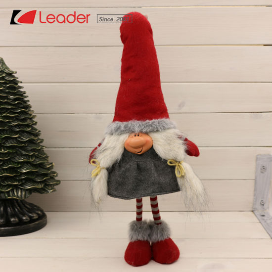 wholesale christmas fabric gnome doll table sitter for holiday gifts and home decoration nordic sewing crafts for christamas decoration - Wholesale Christmas Gifts