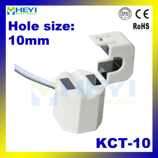 Kct-10 5A/2.5mA Clip-on CT China Factory Split Core Current Sensor 2000turns for Home Energy Monitor pictures & photos