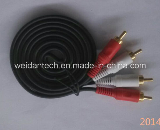 3RCA Component RGB Cable for HDTV DVD VCR 50ft (WD14-004) pictures & photos