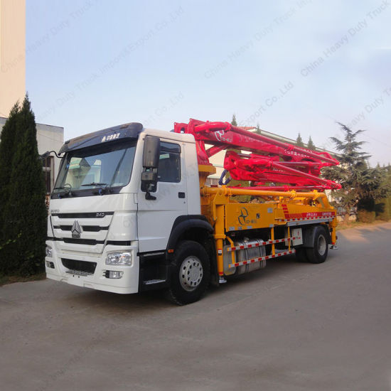 China 80m3/H Output 33m Pumping Height Concrete Pump Truck