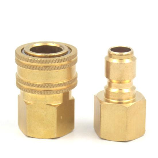 "3/8"" NPT Bsp Brass Hansen Quick Release Coupling Interchange for High Pressure Washer"
