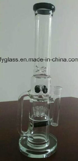 Hot Selling Heavy Glass Smoking Pipe with Matrix Perc or Recycler 25mm Heavy Base pictures & photos