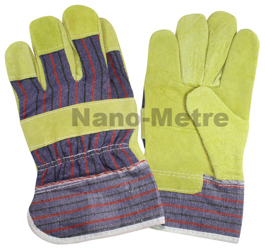 Nmsafety B Grade Cow Split Leather Mining Work Glove