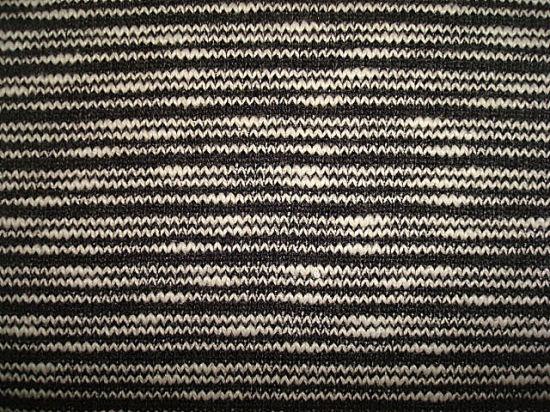 Wool Polyester Zip Stripe Slub Jersey Fabric