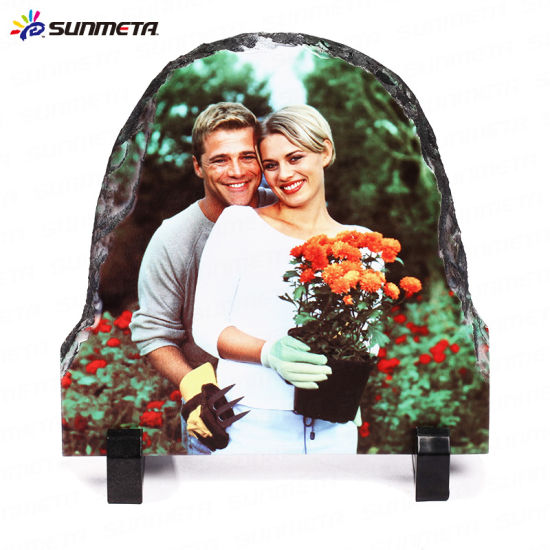 Directly Factory Semicircle Sublimation Coated Blank Rock Slate (SH01)