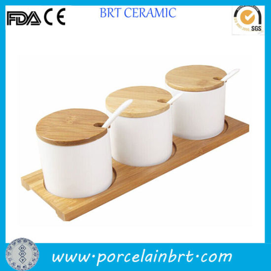 Kitchen Canister Ceramic Condiment Set